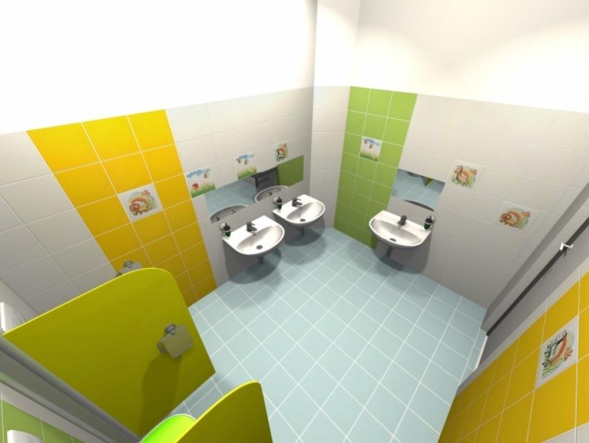 Vizualizácia kúpeľne MŠ Lazovná