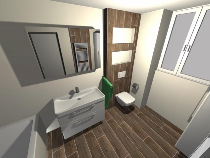 Vizualizácia kúpeľne Banská Bystrica 2